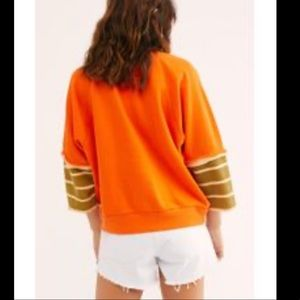 New w tags Free People Orange Cool Day pullover